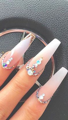 Top 100 Acrylic Nail Designs of May Web Page 96 Hello, ladies who are fond of nails. Aycrlic Nails, Glam Nails, Bling Nails, Stiletto Nails, Sparkly Nails, Coffin Nails, Bling Nail Art, French Nail Designs, Acrylic Nail Designs