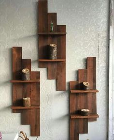 35 Wall Shelves Design Ideas - Wall Shelving Ideas - Wall Shelving - Designer Or Budget? 35 Wall Shelves Design Ideas - Wall Shelving Ideas - Wall Shelving - Designer Or Budget? Wood Wall Shelf, Wall Shelves Design, Diy Wall Shelves, Wood Shelves, Wall Design, Shelving Ideas, Wooden Pallet Projects, Woodworking Projects Diy, Woodworking Jointer