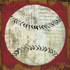 Celebrate your love for sports by decorating your home with the Tangletown Fine Art Ball I Canvas Wall Art by Michael Mullan . This graphic print on. Baseball Painting, Baseball Art, Baseball Live, Baseball Records, Baseball Canvas, Baseball Nursery, Baseball Posters, Baseball Stuff, Baseball Field