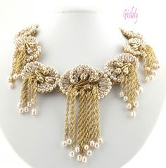 Impeccable Miriam Haskell Beaded Pearl Collar, *Unworn w/ Tag