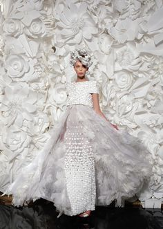 Chanel Inspired Paper Flower Backdrop...