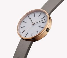 PVD rose gold  Grey nitrile rubber €455.00