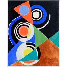 Composition pour jazz, 2e série, No F 344, 1952 - Sonia Delaunay