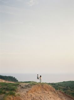 Such a beautiful photo: http://www.stylemepretty.com/michigan-weddings/south-manitou-island/2015/04/22/south-manitou-island-anniversary-session/ | Photography: Cory Weber - http://www.weber-photography.com/