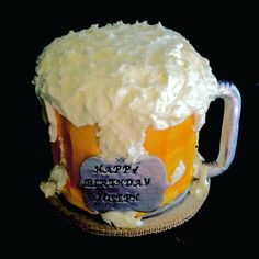 Beer Mug themed Happy Birthday Cake