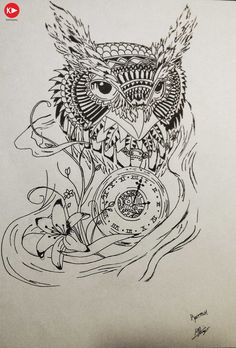 d649eb8f4 Owl Stencil, Stencils, Owl Clock, Picture Tattoos, Tatting, Owls, Project
