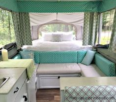 Amy Bell's Pop Up Camper Makeover - The Pop Up Princess http://camptentlover.com/best-family-camping-tents/