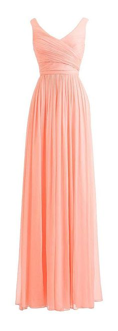 Blush Pink Bridesmaid Gown Rustic V neckline Chiffon Long Bridesmaid Gowns For Beach Summer Brides Dress - Thumbnail 1 Pink Bridesmaid Gowns, Designer Bridesmaid Dresses, Prom Dresses, Wedding Dresses, Dress Prom, Beach Bridesmaids, Pretty Dresses, Beautiful Dresses, Gorgeous Dress