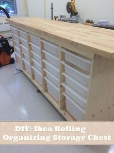 DIY: Ikea Rolling Organizing Storage Chest This is a great step by step tutorial of how to build a Ikea Rolling Organizing Storage Chest.Even though Ikea