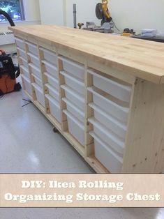 DIY: Ikea Rolling Organizing Storage Chest