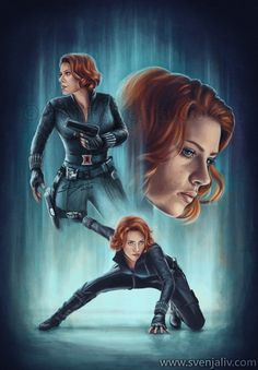 black widow art | Black Widow | Svenja Gosen art and illustration