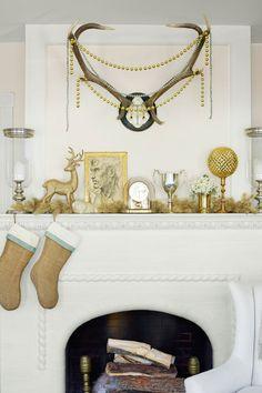 A Golden Fireplace