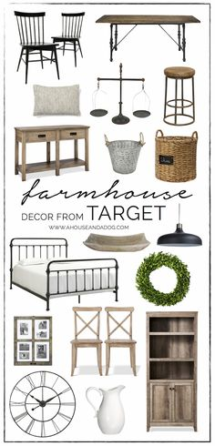 Farmhouse Decor at Target - A House and a Dog