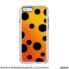 Black Dots On Blended OrangeToYellow Incipio Feather® Shine iPhone 6 Case
