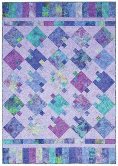 MODERN BLUES QUILT KIT -- love these colors together!