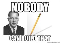 """""""I, Pencil""""  Nobody knows how to make a pencil!"""