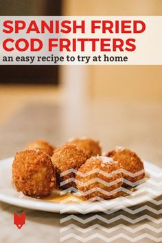 Our favorite recipe at the moment: these cod fritters! They're such a popular tapa in Barcelona and a great way to enjoy top quality seafood on a budget. Plus, they're easy to whip up at home! Get the recipe and our top tips for making them in this guide. Spanish Cuisine, Spanish Food, Cod Fritters Recipe, Foodie Travel, Street Food, Tapas, Seafood, Vegetarian Recipes, Easy Meals