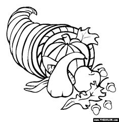 Delicious Meal Thanksgiving Coloring Pages To Print