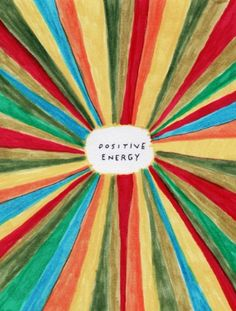 Positive Energy Greeting Card illustrated by Dan Golden for U Studio. Focus all your thoughts to the good and radiate positive energy, man! Art And Illustration, Landscape Illustration, Positive Thinking Tips, Think Positive, Thinking Quotes, Staying Positive, Henna Tattoos, Negative Thoughts, Positive Thoughts