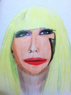 Rabisco Lady Gaga, para minha sobrinha.