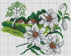 Paisajes naturaleza (bordado) Calendario floral. Discusión sobre LiveInternet - Servicio de Rusia Diarios Online