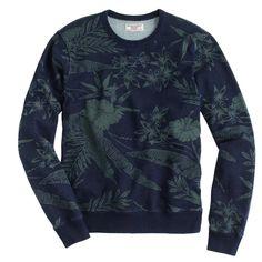 Wallace & Barnes indigo floral sweatshirt : tees, polos & fleece | J.Crew
