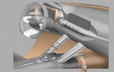 Kia Niro Concept - Interior Design Sketch