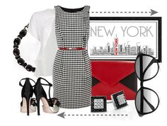 A Touch Of RED! by misslucee on Polyvore featuring polyvore, fashion, style, Oasis, Versace, Giambattista Valli, Lenox, Zales, Lanvin, Chloé, Universal Lighting and Decor, Rittenhouse and clothing