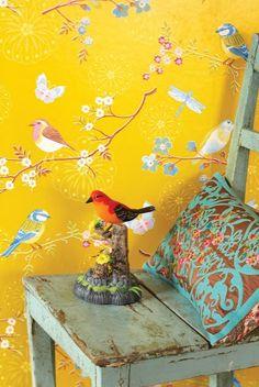 Behang van Eijffinger. Super leuk met dieren als hertjes, konijnen en vogels! http://jolijndesign.blogspot.nl/