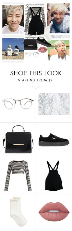 """""""N a m j o o n"""" by softgot7stan ❤ liked on Polyvore featuring Ted Baker, Puma, Dolce&Gabbana, American Apparel, Hue, Lime Crime, bts, rapmonster and Namjoon"""