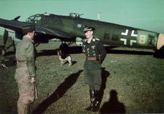 First Lieutenant Walter Garcia  and his Heinkel He 111