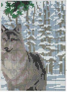 Вышивка крестом волки в зимнем лесу. Вышивка крестом волки схемы | Я Хозяйка