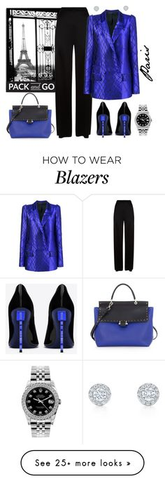 """""""Pack and Go: Paris Fashion Week"""" by krusie on Polyvore featuring Temperley London, Haider Ackermann, Lanvin, Yves Saint Laurent, Rolex, contestentry and parisfashionweek"""