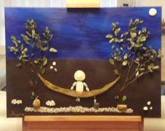Las dimensiones de mi creación Camping es 71 x 45 cm (27.95 * 17,72) y es la última con claro de barniz y es últimas con barniz claro. Es un regalo perfecto y único para la boda, compromiso, aniversario y amor en una pareja! Arte de pared única. Decoración para el hogar. Los guijarros son naturales y usarlos como recogí sin interferir en su forma o color. Las plantas que utilizo son naturales y secos. Como un niño me encantó el mar arena y los guijarros. Jugué durante horas haciendo οn de…