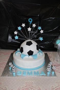 Soccer-ball-Explosion-cake Via My Cake School