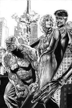 Bruises and Black Eyes, Fantastic Four by Lee Bermejo