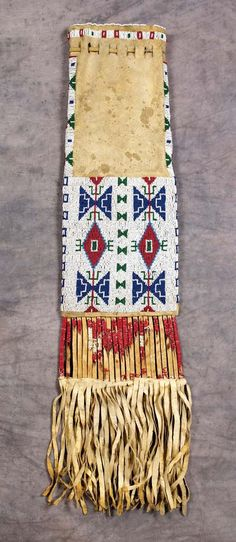 Sioux Beaded and Quilled Pipe Bag -- (native American, crafts, western, wild wild west)