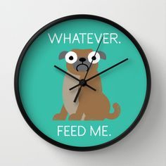 The+Pugly+Truth+Wall+Clock+by+David+Olenick+-+$30.00