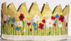 English Summer Meadow Waldorf Crown by SusannaW on Etsy, $58.00