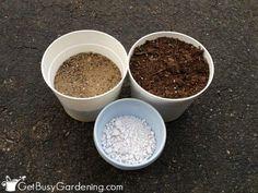 DIY succulent potting soil ingredients