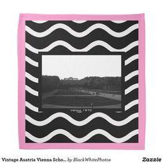 Find classic Vintage bandanas and handkerchiefs on Zazzle. Vintage Bandana, Vienna, Austria, Vintage Photos, Gardens, Tapestry, Bandanas, Classic, Black