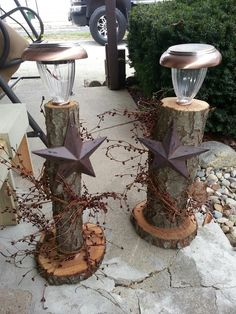 Solar Lights -Harvest Thyme Primitives: love this!