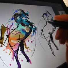 Progress.   #ram #ink #tattoo #watercolor  #cintiq  #wacom #animaltattoos  #illustration #art