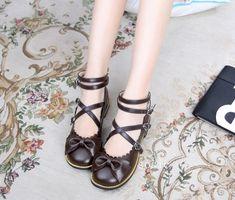 Sweet Bows Low Heels Lolita Shoes