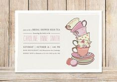 30 New afternoon Tea Invitation Template Blank Gallery - Invitation Card High Tea Invitations, Party Invitation Maker, Birthday Party Invitations, Baby Shower Invitations, Invitation Cards, Invitation Templates, Invitation Wording, Card Templates, Invitation Design