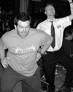 Nick Frost & Simon Pegg. Don't stop me now, cuz I'm havin a good time, HAVIN A GOOD TIME