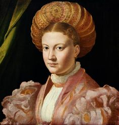 c.1530 Portrait of a young woman, possibly Countess Gozzadini by Parmigianino,  Kunsthistorisches Museum, Vienna, Austria