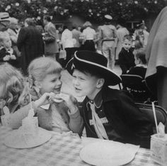 Candice Bergen at a Hollywood children's party, April 1952 Young Celebrities, Celebs, Life In The 1950s, Candice Bergen, Hooray For Hollywood, Those Were The Days, Looking Forward To Seeing You, Love Movie, Childrens Party