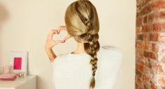 DIY relaxed french braid tutorial