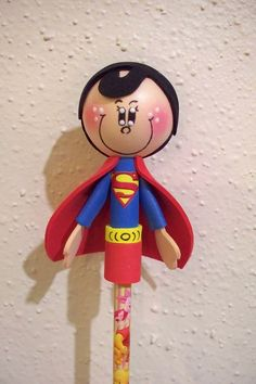 Superman craft foam pencil topper